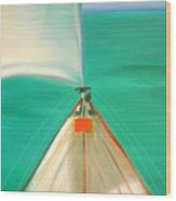 Sailing Wood Print by Gina De Gorna