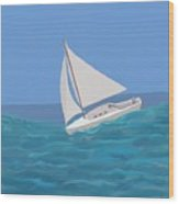 Sailing Home Wood Print