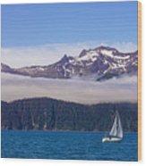 Sailing In Alaska Wood Print