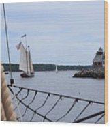 Sailing In Wood Print