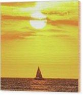 Sailing In Hawaiian Sunshine Wood Print