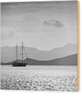 Sailing In The Sunset Wood Print