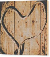 Sailing Love With No Strings Attached Wood Print