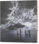 Sailing Wood Print