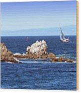 Sailing Monterey Bay Wood Print