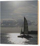 Sailing North Wood Print