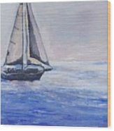 Sailing Off Cape May Point Wood Print