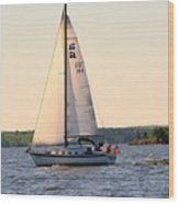 Sailing On Lake Murray Sc Wood Print