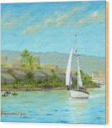 Sailing Out To Sea Wood Print
