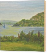 Sailing Past Cold Spring Wood Print