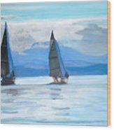 Sailing Race Wood Print
