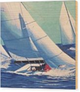 Sailing Regatta Wood Print
