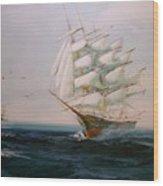 Sailing Ships The Beauty Of The Sea Wood Print