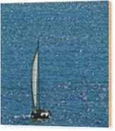 Sailing Solo Wood Print