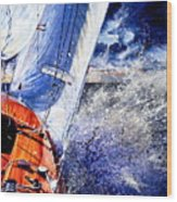 Sailing Souls Wood Print