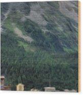 Sailing St Moritz Wood Print