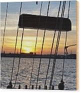 Sailing Summers Wood Print