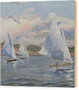 Sailing Sunday Wood Print