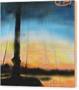 Sailing The Amalfi Coast Wood Print