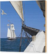 Sailing The Atlantic Wood Print