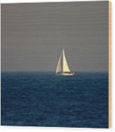 Sailing The Blue Wood Print