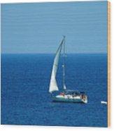 Sailing The Deep Blue Sea Wood Print