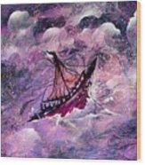 Sailing The Heavens Wood Print