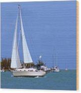 Sailing The Keys Wood Print
