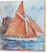 Sailing The Open Sea... Wood Print