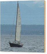 Sailing The Pugent Sound Wood Print