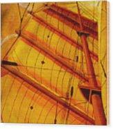 Sailing Through Gold Wood Print