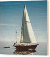 Sailing Through The Watch Hill Pass. Wood Print