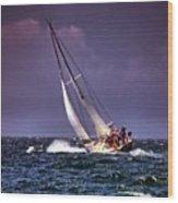 Sailing To Nantucket 001 Wood Print