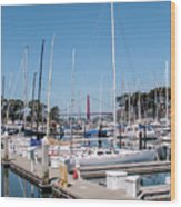 Sailing To The Golden Gate Wood Print
