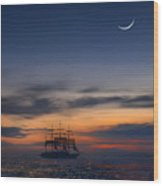 Sailing To The Moon 2 Wood Print by Mike McGlothlen
