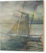 Sailing To The Moon Wood Print