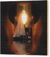 Sailing Under The Stars Wood Print