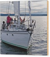 Sailing Up Wood Print