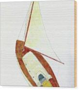 Sailing Watercolor Wood Print