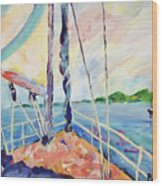 Sailing - Wind In Your Face Wood Print
