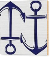 Sailors Anchor Wood Print