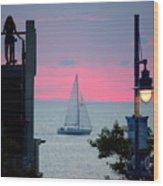 Sailors De Light  Wood Print
