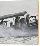 Sailors Patrol Kuwait Naval Bases Wood Print