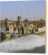 Sailors Racing Along The Euphrates Wood Print
