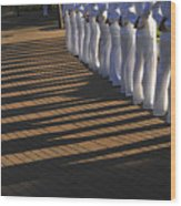 Sailors Stand At Parade Rest Wood Print