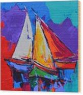 Sails Colors Wood Print