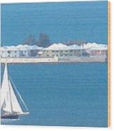 Sails In Bermuda Wood Print