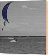 Sails In Color Wood Print
