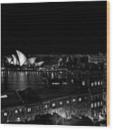 Sails In The Night Wood Print