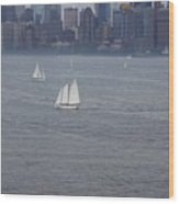 Sails On The Harbor No. 2 Wood Print